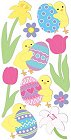 3d Easter Chicks Stickers