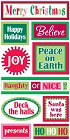 3d Christmas Words Stickers