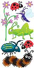 3D Bugs Stickers