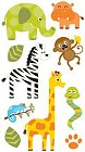 3D Safari Animals Stickers