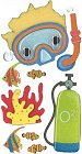 3D Scuba Adventure Stickers