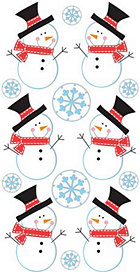 3d Snowmen Stickers