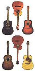 Acoustic Guitar Stickers