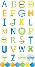 Summer Splash Circle Alphabet Stickers