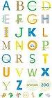 Zoo Circle Alphabet Stickers