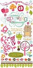 Girl Garden Icons Rub-Ons
