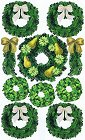 Glitter Christmas Wreaths Stickers