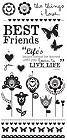 Best Friends Rub-Ons