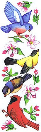 Birds & Blossoms Rub-Ons