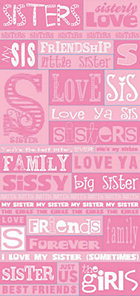 Pink Sisters Words Stickers