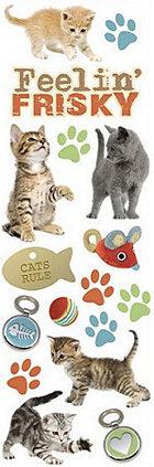 Glitter Cats Rub-Ons