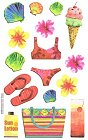 Vellum Summer Icons Stickers