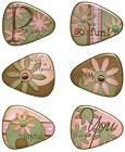 Joyful Resin Guitar Picks Stickers