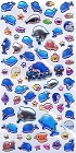 Sea Paradise Bl Dolphins Epoxy Kawaii Stickers