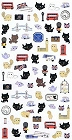 Kutusita Nyanko Cat London Kawaii Stickers