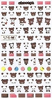 Chocopa Panda & Chocolate 2 Kawaii Stickers