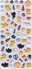 Kutusita Nyanko Cat Puffy 2 Kawaii Stickers