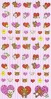 Shiny Rilakkuma Red Hearts Kawaii Stickers