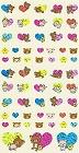 Shiny Rilakkuma Colour Hearts Kawaii Stickers