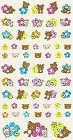 Shiny Rilakkuma Flowers Kawaii Stickers
