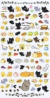 Kutusita Nyanko Cat Picnic 2 Kawaii Stickers