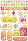 Mimosa Flowers Epoxy Stickers