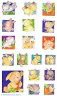 Cute Bunny Rabbits Stickers