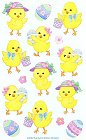 Sweet Easter Chicks Stickers