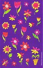 Bright Funky Flowers Stickers