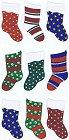 Shiny Christmas Stockings Stickers