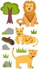 Glitter Lions Stickers