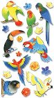 3D Tropical Birds Stickers