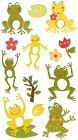 Glitter Frogs Stickers