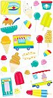 Glitter Icecream Truck Stickers