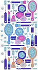 Shiny Make Up Accessories Stickers