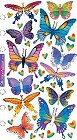 Metallic Butterflies Stickers