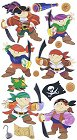 3d Jolly Roger Pirates Stickers