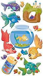 Puffy Goldfish Stickers