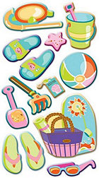 Puffy At The Beach Stickers