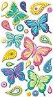 Puffy Butterflies Stickers