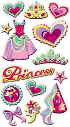 Puffy Princess Icons Stickers
