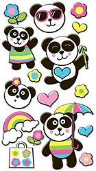 Puffy Pandas Stickers