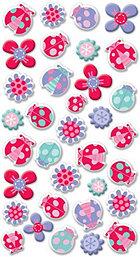 Puffy Little Ladybugs Stickers