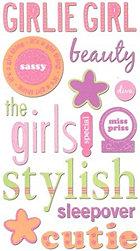 Glitter Girl Words Stickers