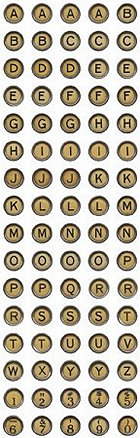 Aged Typewriter Alphabet Stickers