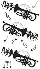 Trumpet Silhouette Stickers