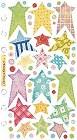 Pastel Stars Vellum Stickers