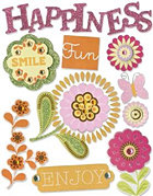 3d Happiness Flowers Stickers