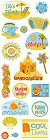 Beach Fun Shimmer And Shine Stickers