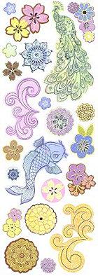 Glitter Serenity Stickers